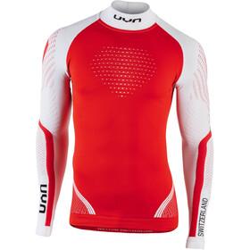 UYN Natyon Switzerland UW Maglia girocollo a maniche lunghe, rosso/bianco